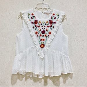 ZARA Blouse with Embroidery (new)